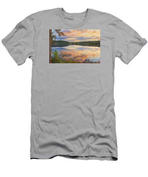 Men's T-Shirt (Slim Fit) featuring the photograph Soddy Lake by Geraldine DeBoer