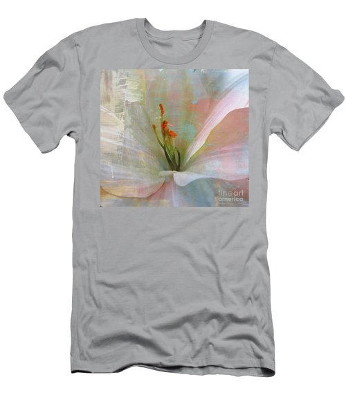 Men's T-Shirt (Slim Fit) featuring the photograph Soft Painted Lily by Judy Palkimas