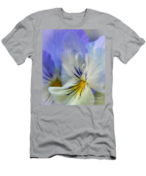 Soft White Pansy Men's T-Shirt (Slim Fit) by Amy Porter