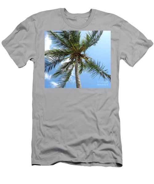 Solitary Palm Men's T-Shirt (Athletic Fit)