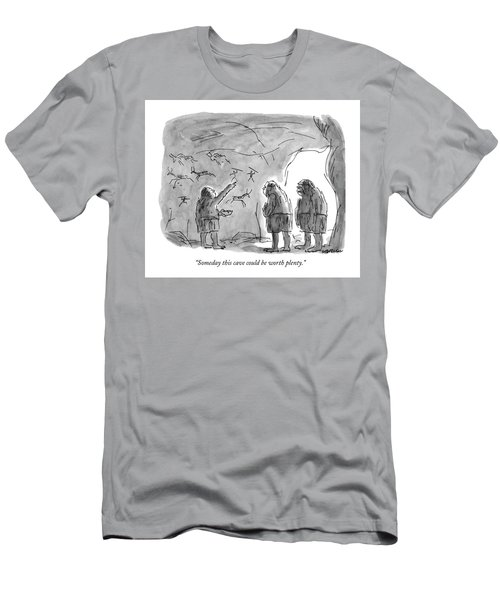 Someday This Cave Could Be Worth Plenty Men's T-Shirt (Athletic Fit)