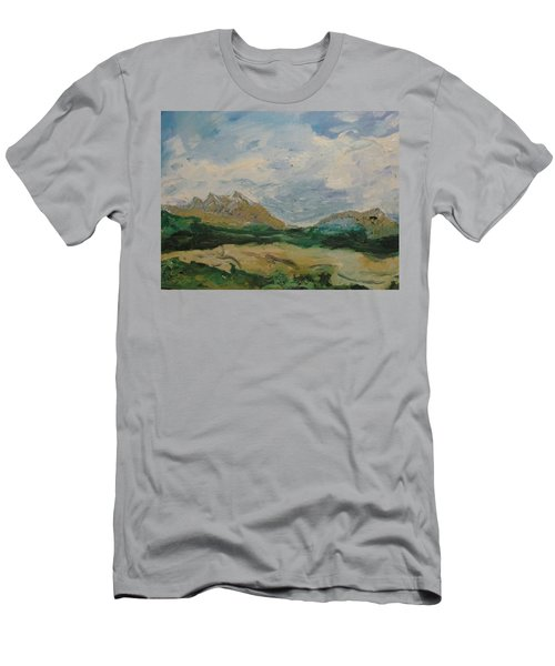 Somewhere In Denali Men's T-Shirt (Athletic Fit)