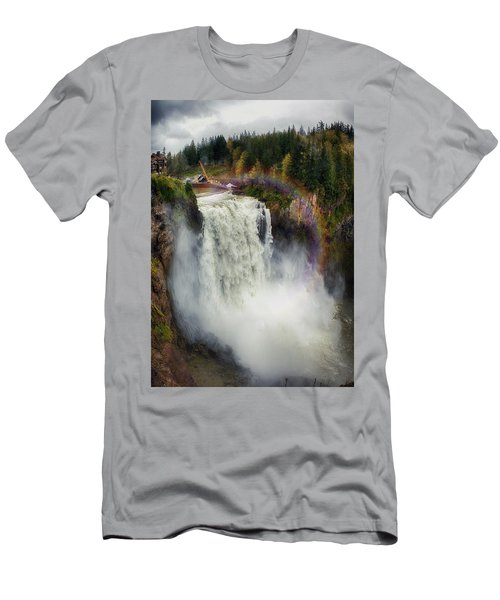Somewhere Over The Falls Men's T-Shirt (Slim Fit) by James Heckt