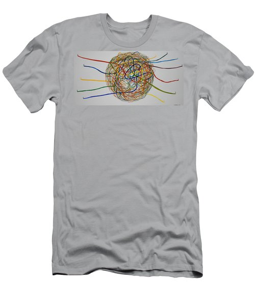 Men's T-Shirt (Slim Fit) featuring the painting Soul Journey 1 by Tim Mullaney