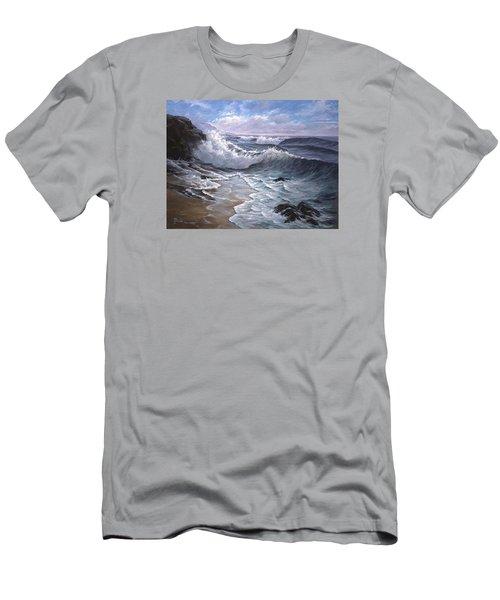 Sounding Waves At Big Sur Men's T-Shirt (Athletic Fit)