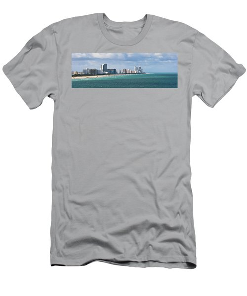 South Beach On A Summer Day Men's T-Shirt (Athletic Fit)