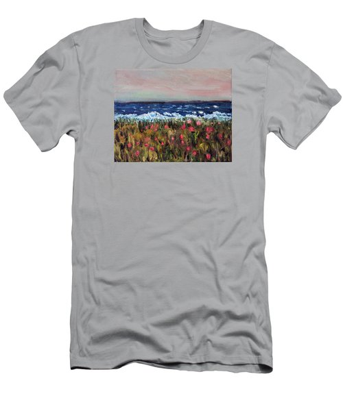 Men's T-Shirt (Slim Fit) featuring the painting South Cape Beach Sunset by Michael Helfen