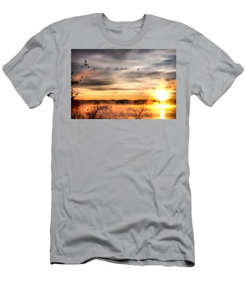 Men's T-Shirt (Slim Fit) featuring the photograph South Carolina Morning by Lynne Jenkins