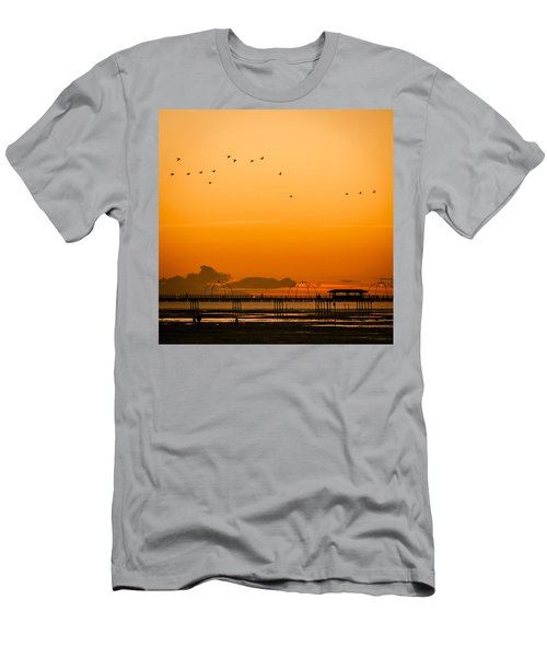 Southport Pier At Sunset Men's T-Shirt (Athletic Fit)