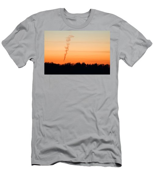 Spiral Cloud At Sunset Men's T-Shirt (Athletic Fit)