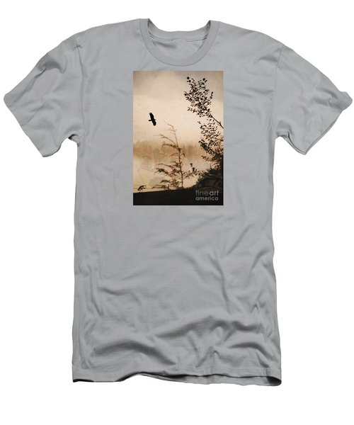 Spirit Of Alaska Men's T-Shirt (Slim Fit) by Cynthia Lagoudakis