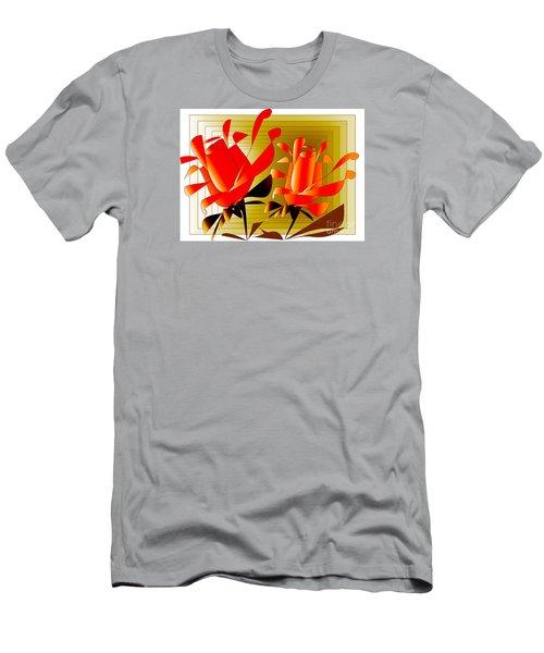 Men's T-Shirt (Slim Fit) featuring the digital art Spirit Of Roses by Iris Gelbart