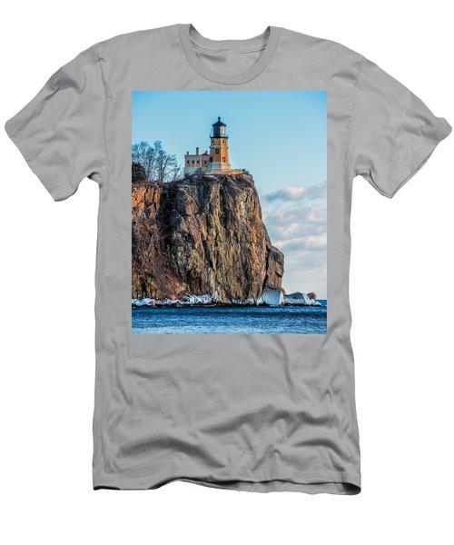 Split Rock Lighthouse In Winter Men's T-Shirt (Athletic Fit)