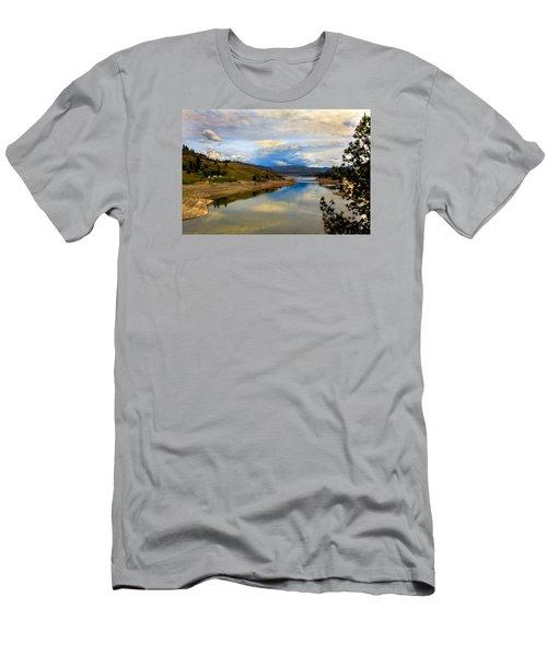 Spokane River Men's T-Shirt (Slim Fit) by Robert Bales