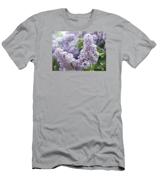 Spring Lilacs In Bloom Men's T-Shirt (Slim Fit) by Juli Scalzi