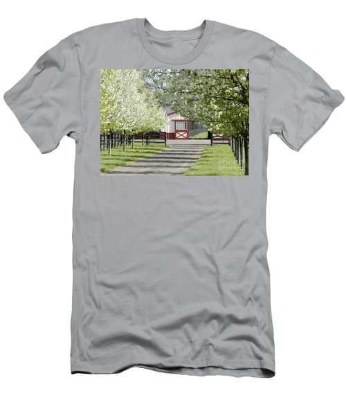Spring Time At The Farm Men's T-Shirt (Slim Fit) by Sami Martin