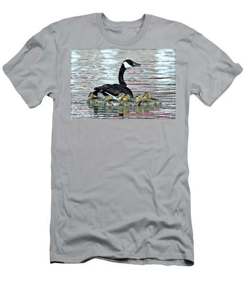 Spring's First Goslings Men's T-Shirt (Athletic Fit)