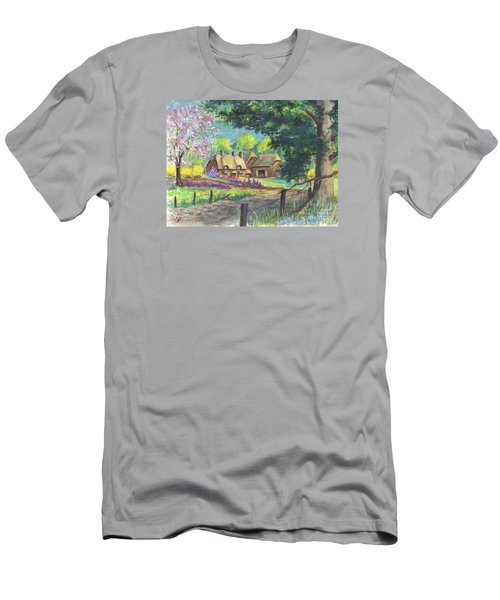 Springtime Cottage Men's T-Shirt (Athletic Fit)