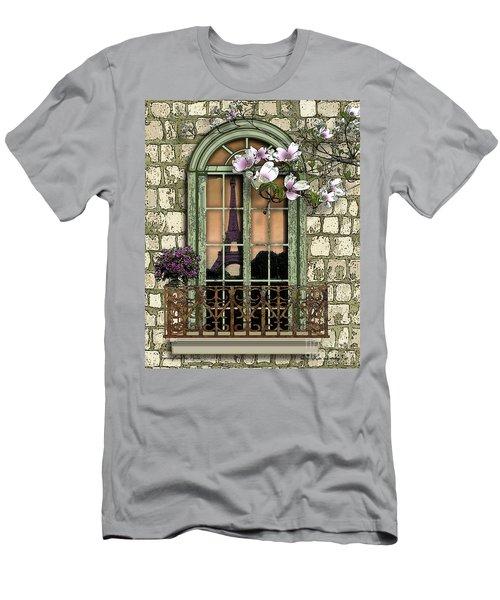 Springtime In Paris Men's T-Shirt (Athletic Fit)