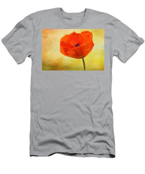 Springtime Poppy Beauty Men's T-Shirt (Athletic Fit)