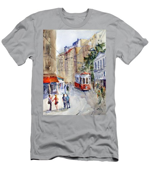 Square Tunel - Beyoglu Istanbul Men's T-Shirt (Athletic Fit)