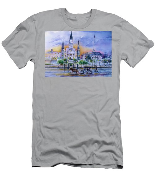 St. Charles New Orleans Sunset Men's T-Shirt (Athletic Fit)