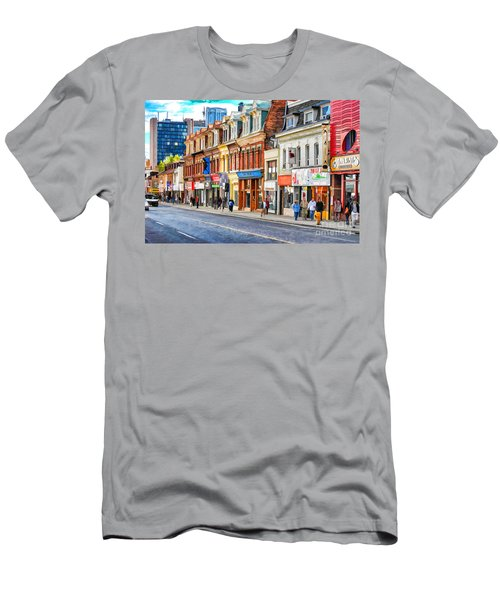 Yonge Street In Toronto Men's T-Shirt (Athletic Fit)