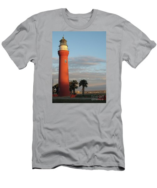 St. Johns River Lighthouse II Men's T-Shirt (Slim Fit) by Christiane Schulze Art And Photography