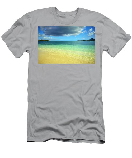 St. Maarten Tropical Paradise Men's T-Shirt (Athletic Fit)