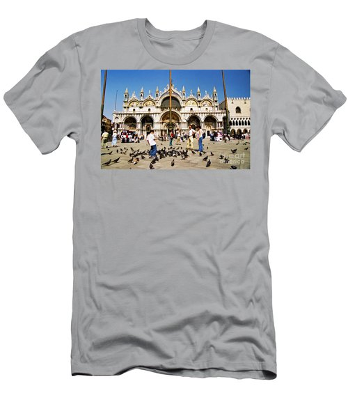 Men's T-Shirt (Slim Fit) featuring the photograph St. Mark's Basilica  by Allen Beatty