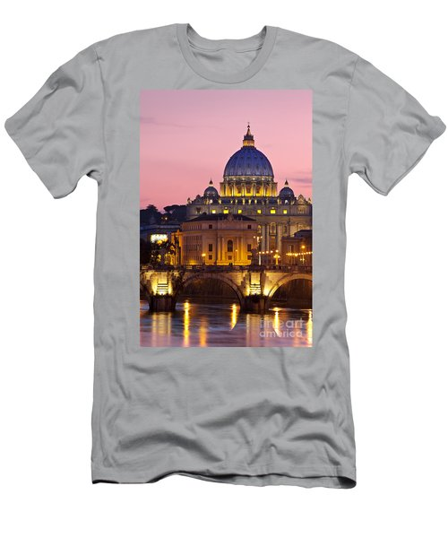 Men's T-Shirt (Athletic Fit) featuring the photograph St Peters Basilica by Brian Jannsen