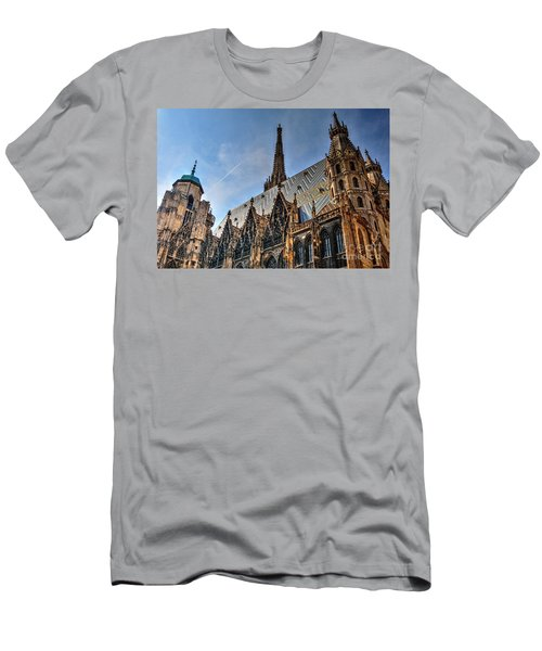 Men's T-Shirt (Slim Fit) featuring the photograph St. Stephen's Cathedral by Joe  Ng