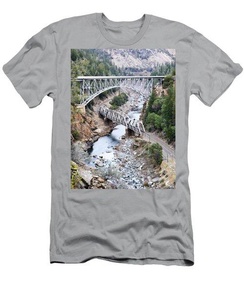 Stacked Bridges Men's T-Shirt (Athletic Fit)