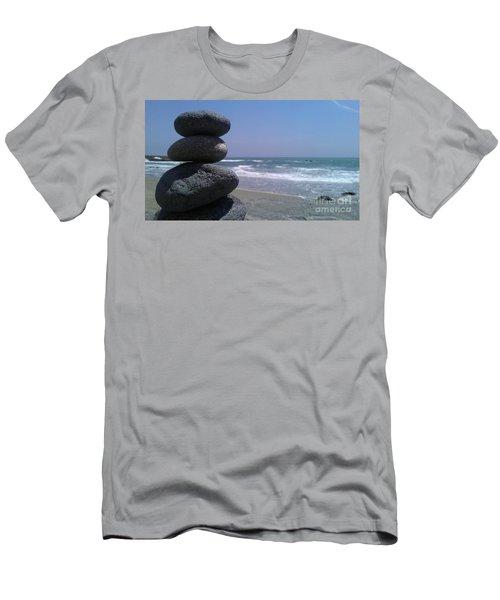 Stacked Rocks Men's T-Shirt (Slim Fit) by Chris Tarpening