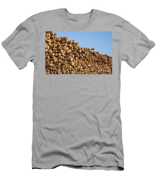 Stacks Of Logs Men's T-Shirt (Athletic Fit)