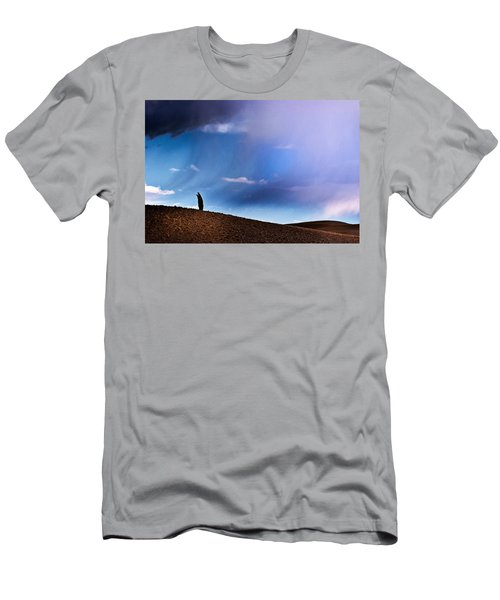 Standing Against The Wind Men's T-Shirt (Athletic Fit)