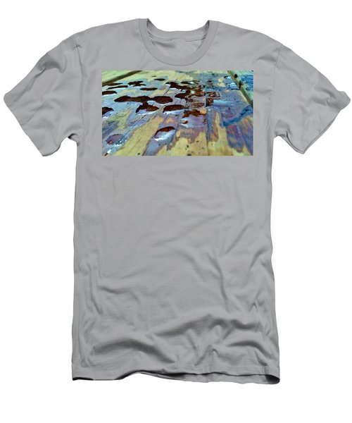 Men's T-Shirt (Athletic Fit) featuring the photograph Standing Drops by Tyson Kinnison