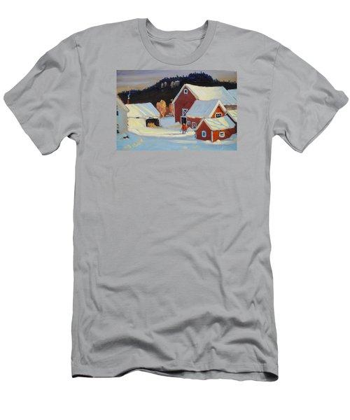Stanley Kay Farm Men's T-Shirt (Slim Fit) by Len Stomski