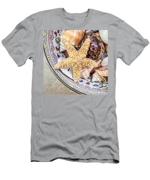 Starfish And Seashells Men's T-Shirt (Athletic Fit)