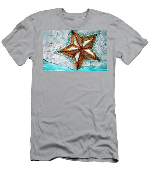 Starfish On The Beach Alcohol Inks Men's T-Shirt (Athletic Fit)