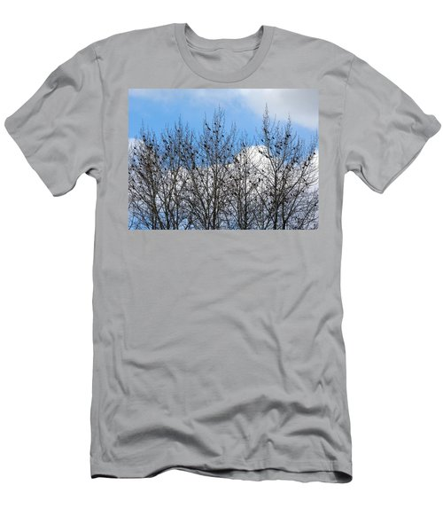 Starlings In The Cottonwoods Men's T-Shirt (Athletic Fit)