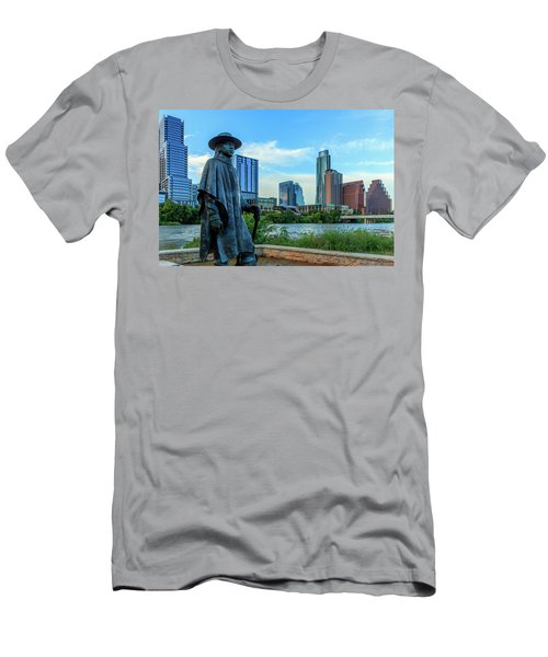 Statue Of Stevie Ray Vaughan Men's T-Shirt (Athletic Fit)