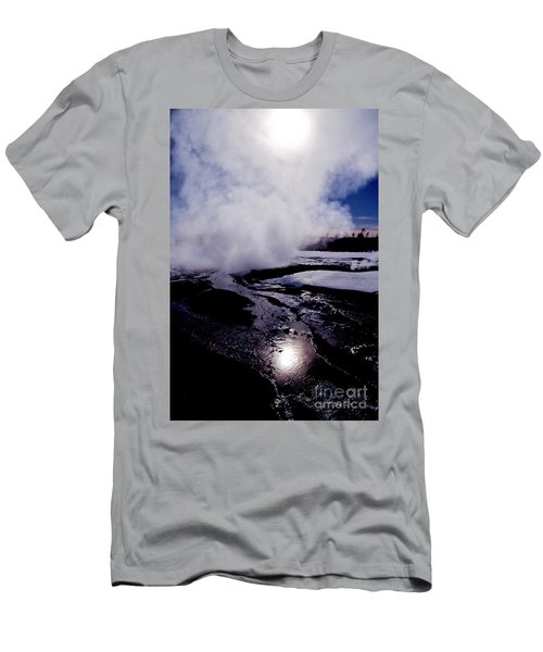 Men's T-Shirt (Slim Fit) featuring the photograph Steam by Sharon Elliott