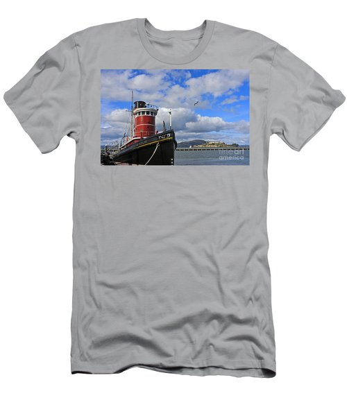 Men's T-Shirt (Slim Fit) featuring the photograph Steam Tug Hercules by Kate Brown