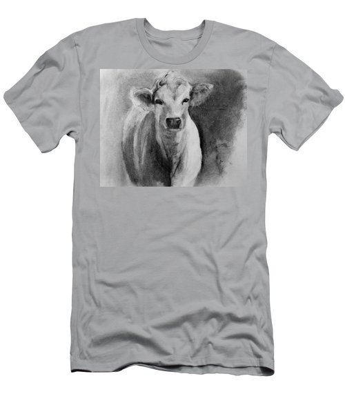Steer- Drawing From Life Men's T-Shirt (Slim Fit) by Michele Carter