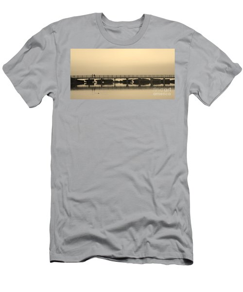 Men's T-Shirt (Slim Fit) featuring the photograph Still Lake by Clare Bevan