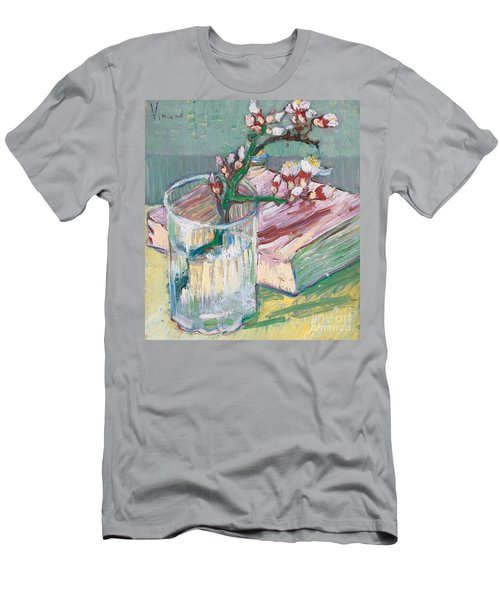 Still Life    A Flowering Almond Branch Men's T-Shirt (Athletic Fit)