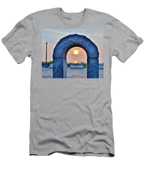 Sunrise Through The Arch - Rehoboth Beach Delaware Men's T-Shirt (Athletic Fit)