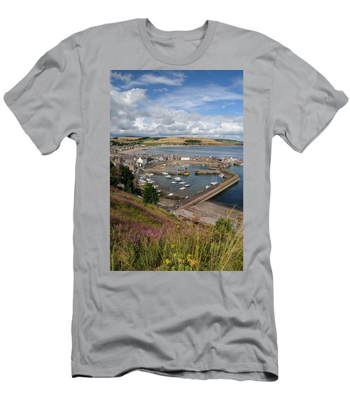 Stonhaven Harbour  Scotland Men's T-Shirt (Athletic Fit)