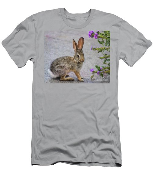 Men's T-Shirt (Slim Fit) featuring the photograph Stop And Smell The Flowers by Tammy Espino